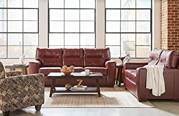 Magnificent Lane Home Furnishings 2043 04Q Soft Touch Crimson Queen Sleeper Red Inzonedesignstudio Interior Chair Design Inzonedesignstudiocom