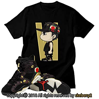 first rate cee02 1cc39 Custom T Shirt Matching Air Jordan VI Retro 6 Chinese New ...
