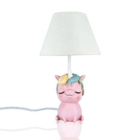 Amazlab cute unicorn table lamp for bedroom bedside lamp for kids room decoration gifts