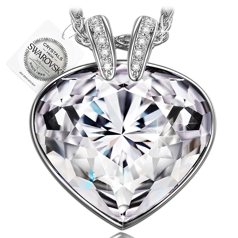 P M Oceano Corazon Collar Mujer Joyeria con cristales Swarovski