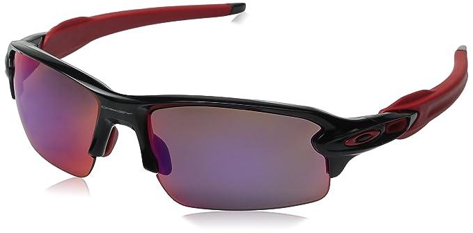 red and black oakleys p171  Oakley Men's Flak 20 OO9295-08 Polarized Iridium Rectangular Sunglasses,  Black Ink, 59