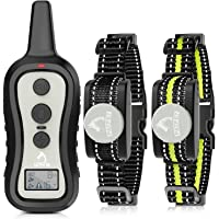 PATPET Dog Training Collar with 2 Receivers, Shock Collars for Dogs, Dog Shock Collar with Beep Vibration Shock for…