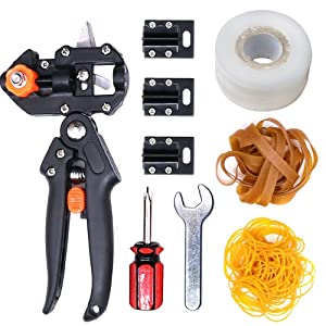Glarks Professional Garden Fruit Tree Plant Pruning Shears Grafting Cutting Tool Kit with Grafting Tape Rubber Bands