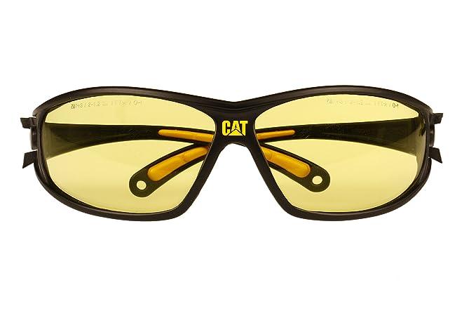 Caterpillar Tread Safety Glasses, Black and Yellow, Smoke - Reloj Caterpillar - Amazon.com