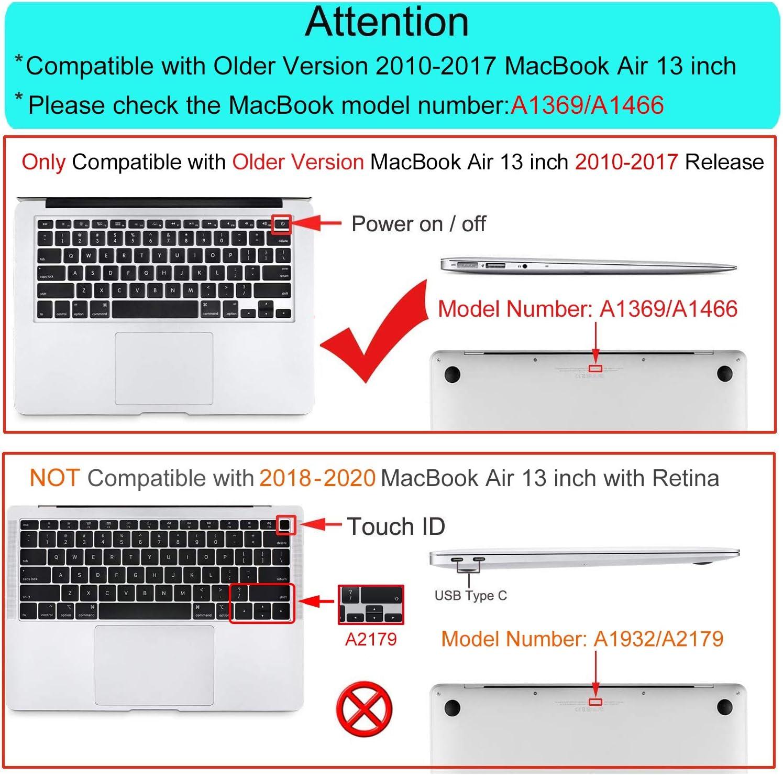 Funda MOSISO para MacBook Air de 13 (A1369 A1466)
