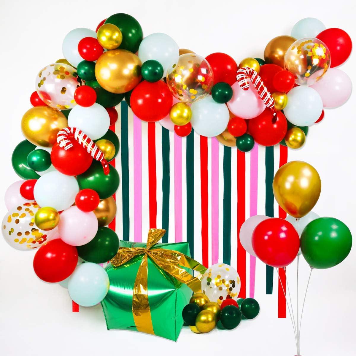 Kit de Globos de Decoraciones navide/ñas,Globos Decoraci/ón de Fiesta de Navidad Feliz Navidad//Pap/á Noel///Árbol de Navidad//Ciervo Set de 30 Merry Christmas Decoraci/ón de Fiesta de Navidad