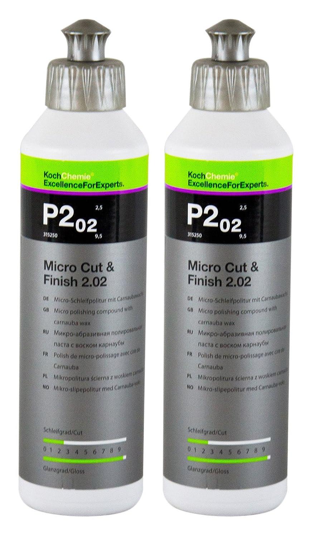 Koch Chemie 2x P2.02 Micro Cut & Finish 2.02 Glanzpolitur Autopolitur 250ml