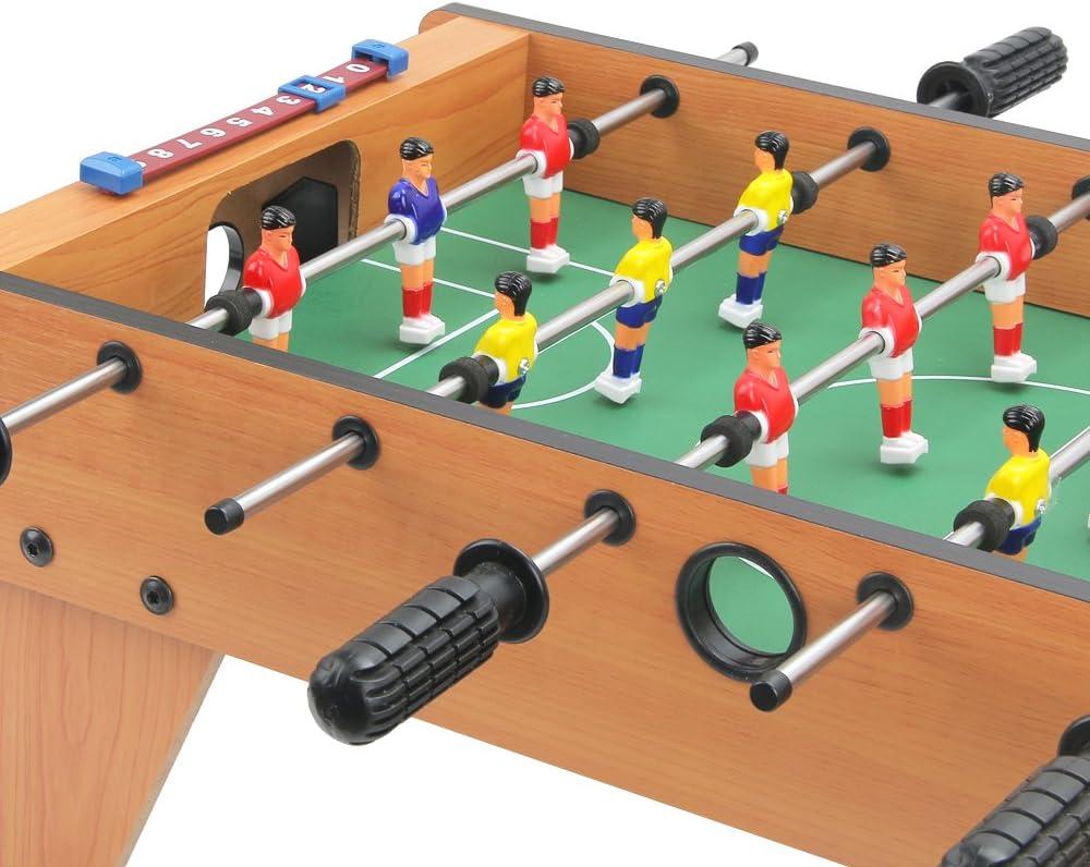 27 pulgadas Mini futbolín con patas, mesa de juego de mesa de fútbol, para principiantes a jugadores de nivel intermedio, elegante y diseño contemporáneo, por keess juguetes: Amazon.es: Deportes y aire libre