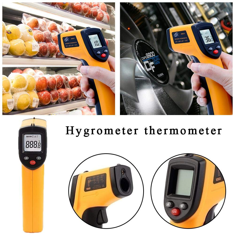 With Bubble Bag, Without Battery Delivery Lamptti 50~330/° GM320 Non-contact LCD Infrared Laser Infrared Digital Temperature Thermometer