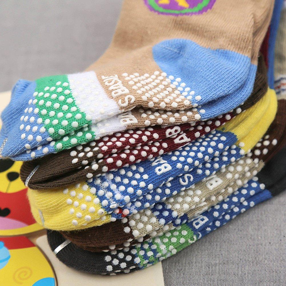 Baby Non-skid Socks Toddler Boys Ankle Socks for 8-36 Months by Toptim