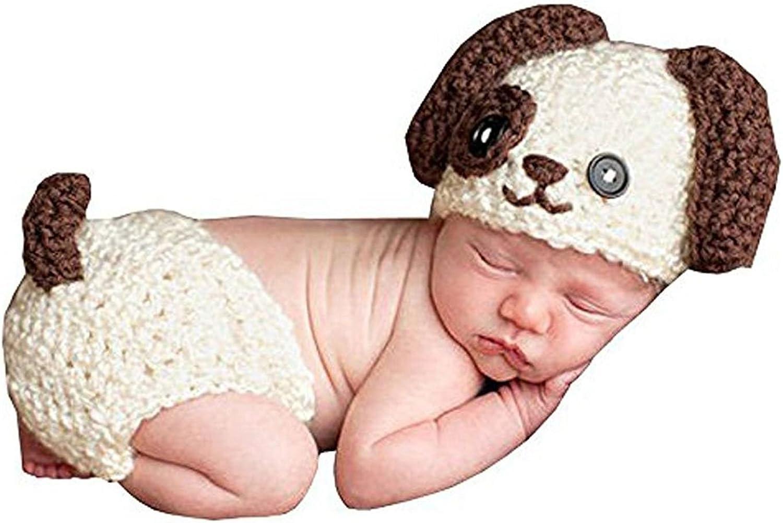 Nrpfell MSFS Accesorios de fotografia foto de punto de ganchillo de bebe Traje Panal Sombrero de bebe hecho a mano perro