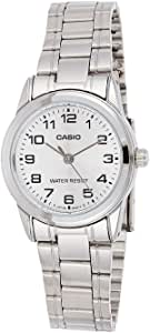 Casio Women's Silver Dial Stainless Steel Analog Watch - LTP-V001D-7BUDF