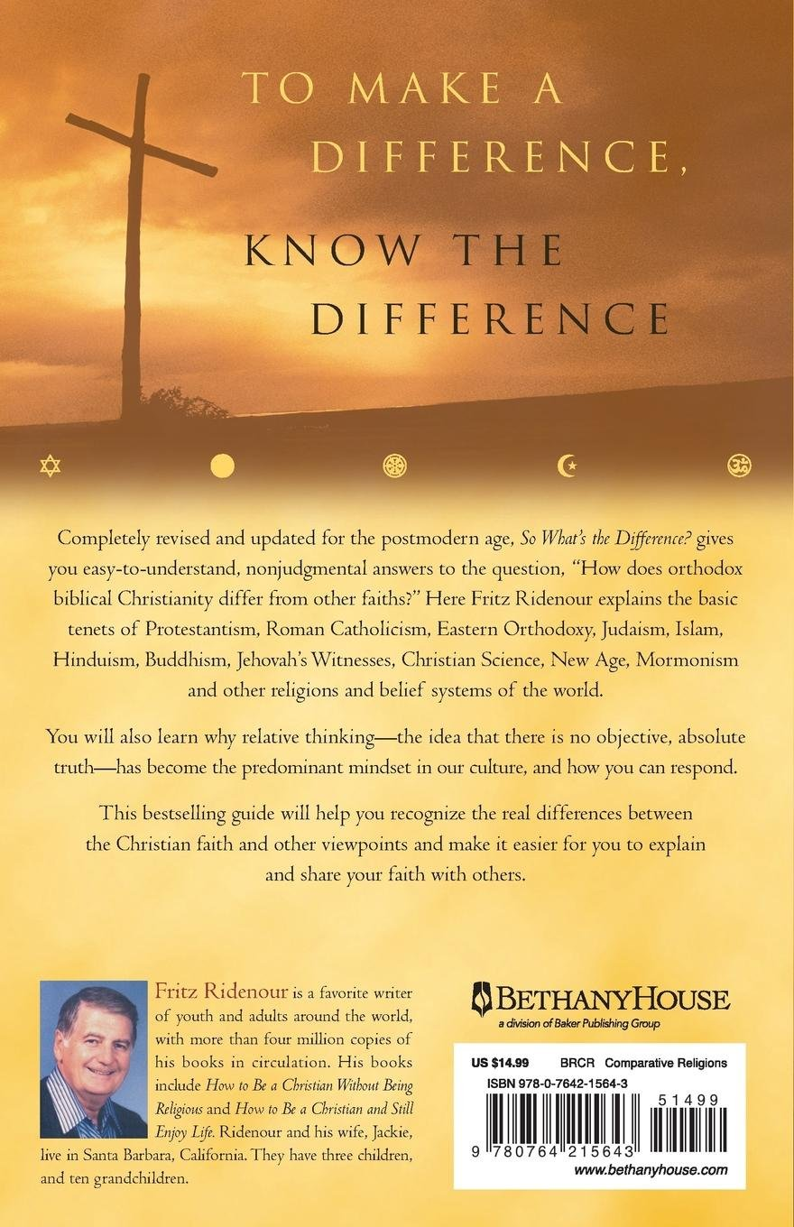 So What's the Difference: Fritz Ridenour: 9780764215643: Amazon.com: Books