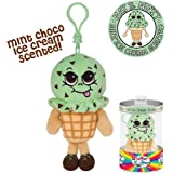 Whiffer Sniffers May B. Minty Mint Ice Cream Scented Plush Backpack Clip