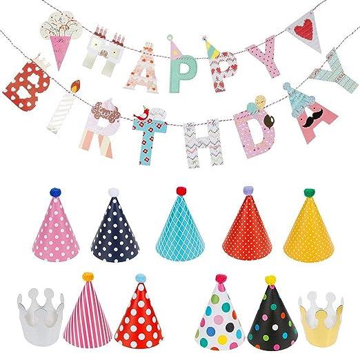 Sombreros de fiesta para cumpleaños infantiles, guirnalda de ...