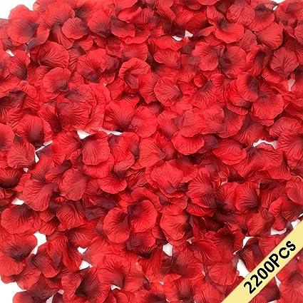 Amazon smile party 2200 pcs dark red silk rose petals wedding smile party 2200 pcs dark red silk rose petals wedding flower decoration mightylinksfo