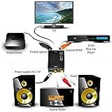 Galaxy Hi-Tech® Digital to Analogue Optical Audio Converter Adapter RCA Input and Optical coaxial Output (Black)
