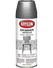 Krylon 39-22 Metallic Spray Paint Silver Shimmer, 11.5-Ounce