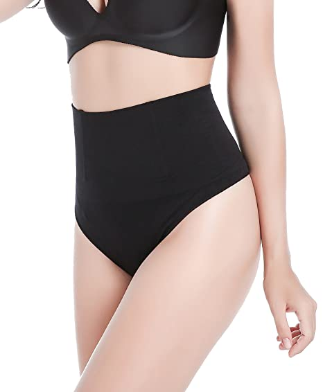 bc6ae94c057 Image Unavailable. Image not available for. Color  DODOING Women High Waist  Cincher Thong Tummy Slimming Shapewear Postpartum Underwear Panties