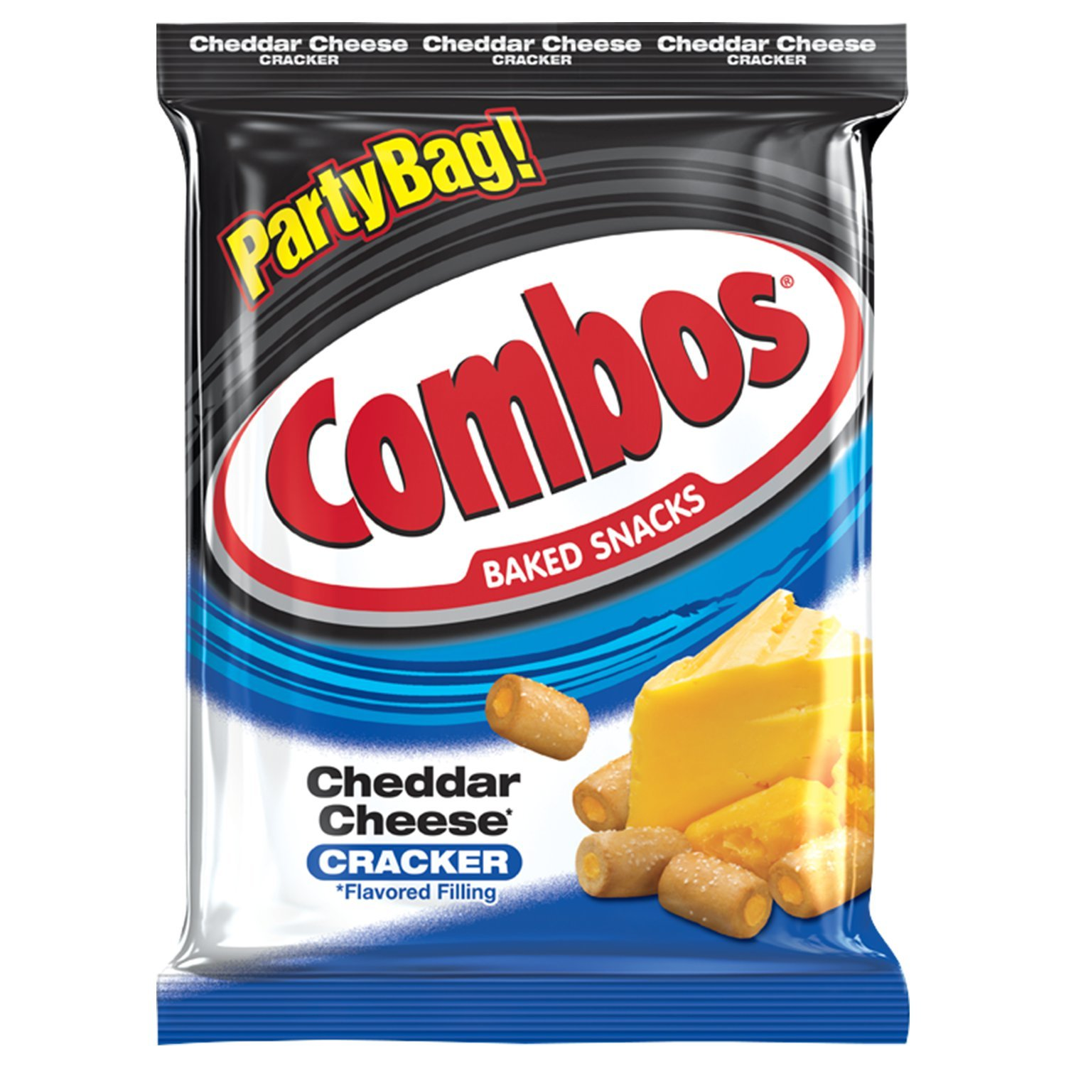 COMBOS Cheddar Cheese Cracker Baked Snacks 15-Ounce Bag by Combos
