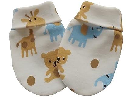 100% guantes de algodón bebé recién nacido - Manoplas antiarañazos ...