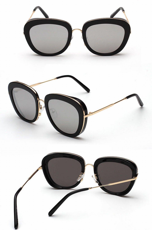 Große Rahmen Frau Rosa Sonnenbrille Transparente Farbe Rund Große Rahmen Sonnenbrille Polarisierte Sonnenbrille Champagner-Rahmen Mit Rosa Pulver mkks5mVW