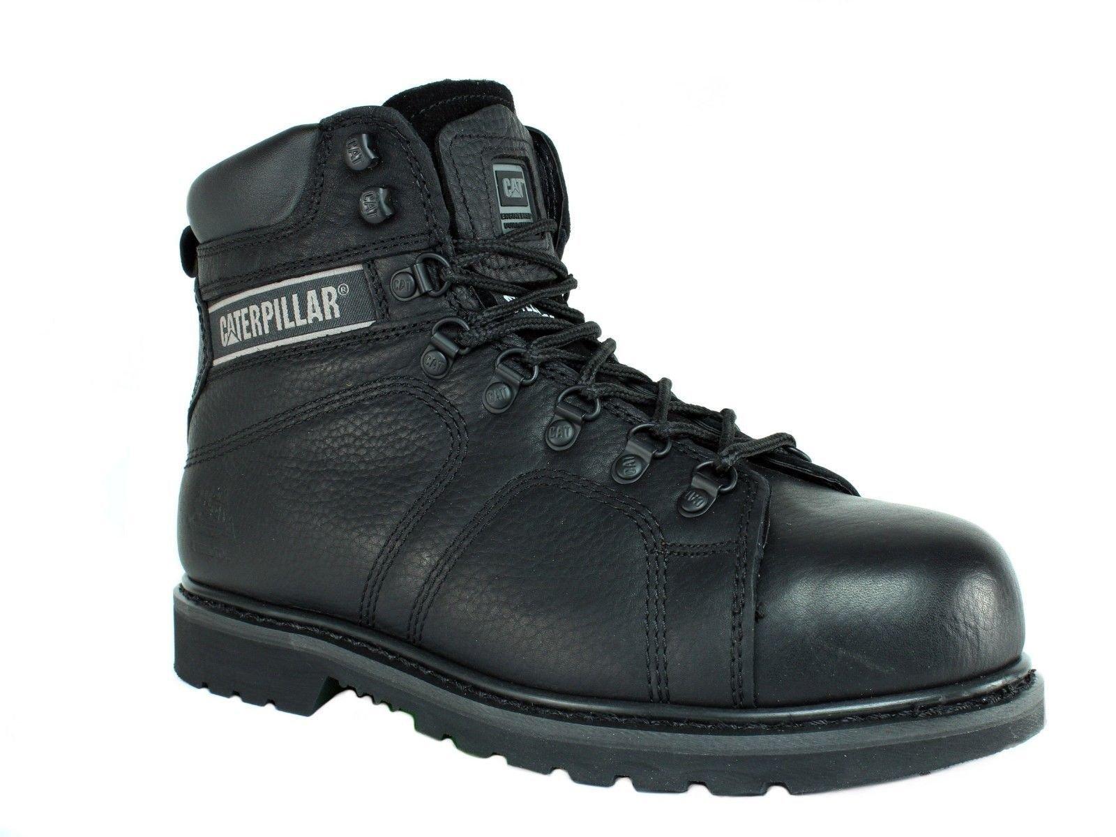 Caterpillar SureGrip Mens Silverton SG Black Slip Resistant Work Boots 12M by Caterpillar (Image #1)