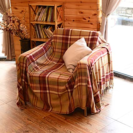 Awe Inspiring Amazon Com Afahxx Gingham Decorative Couch Covers Thicken Andrewgaddart Wooden Chair Designs For Living Room Andrewgaddartcom