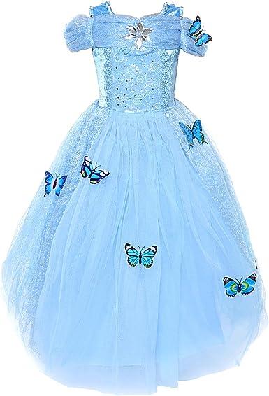 Amazon.com: Loel Disfraz de princesa con mariposas para ...