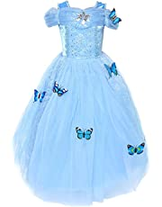 LOEL Cinderella Dress Princess Costume Simulation Butterfly Dress