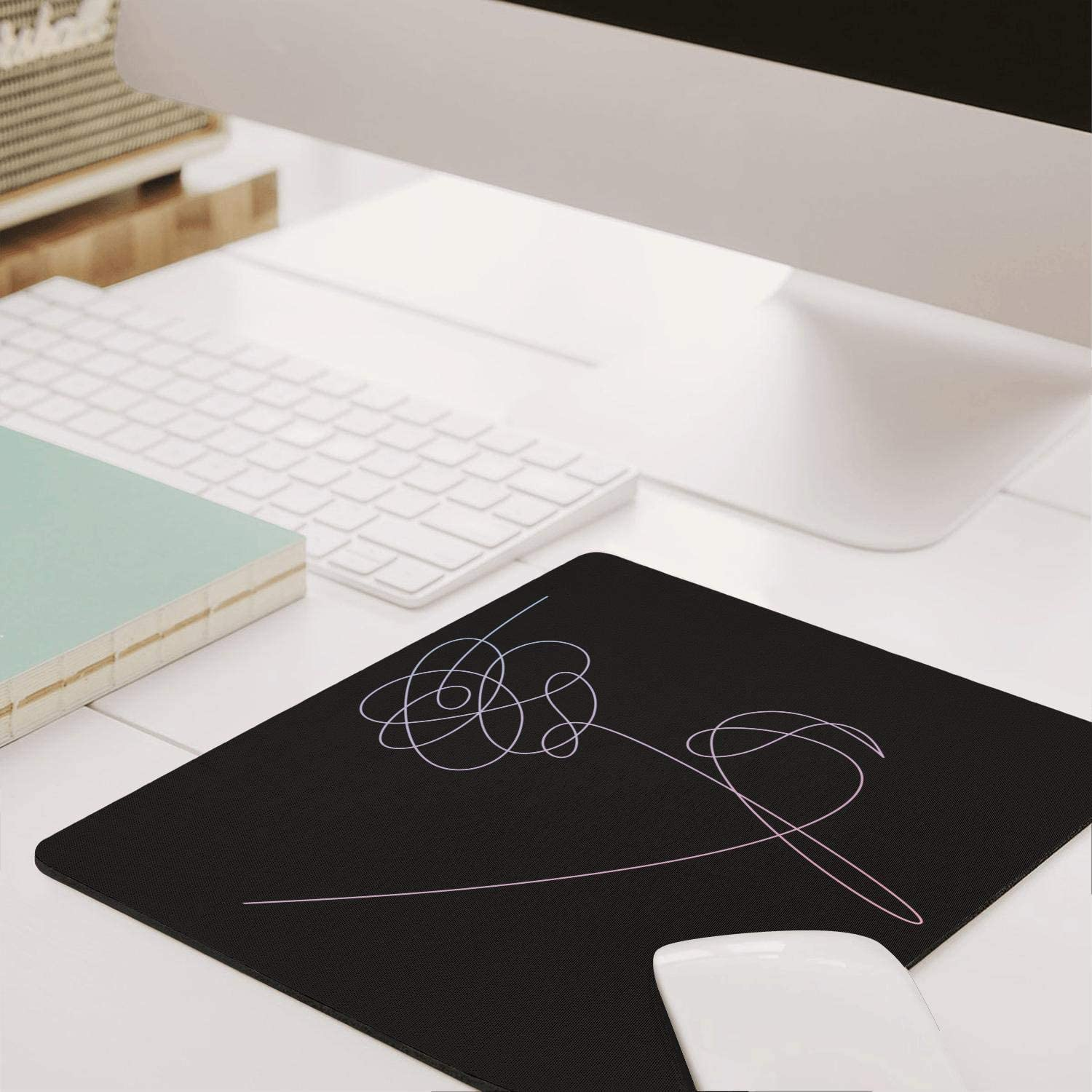 Laptop Mouse pad BTS-Love-Yourself-Logo-,Stitched Edges /& Skid Proof Rubber Base,Gaming Mousepads for Computers,Laptop,Office /& Home