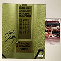 $54 » Autographed/Signed Rudy Ruettiger Play Like A Champion Today Notre Dame Irish 8x10 College…
