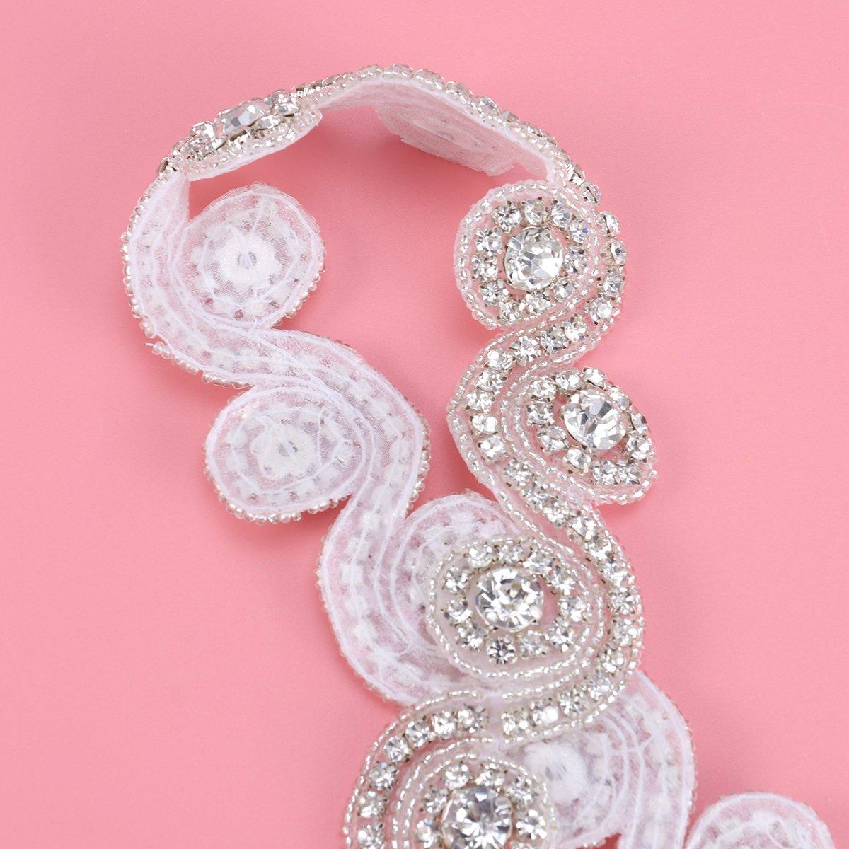 ROSENICE Crystal Diamante de Imitación Apliques de Cinturón de ...