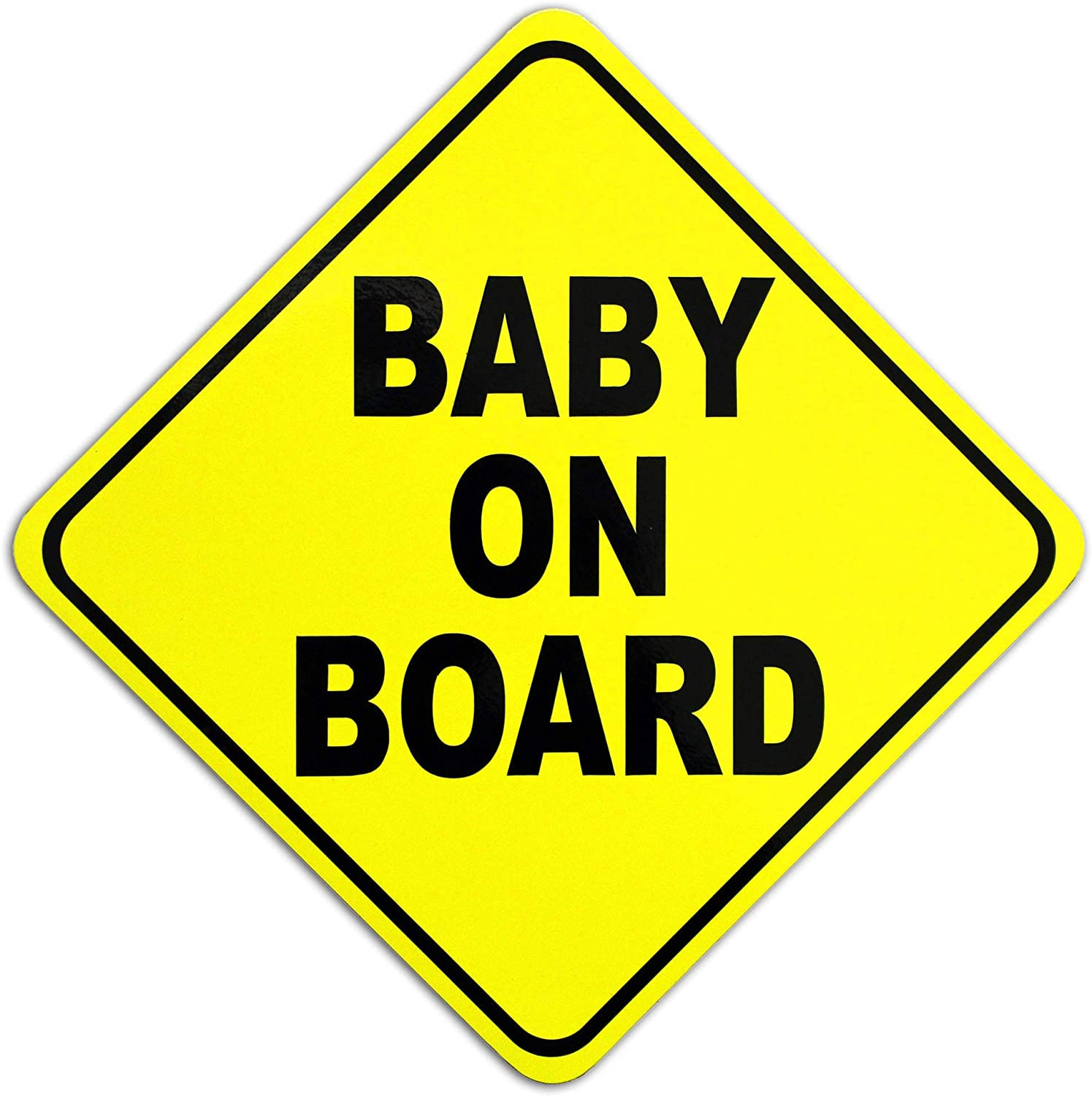 15 x 15 cm Baby On Board Magnetic Car Sign Magnetic Baby on Board