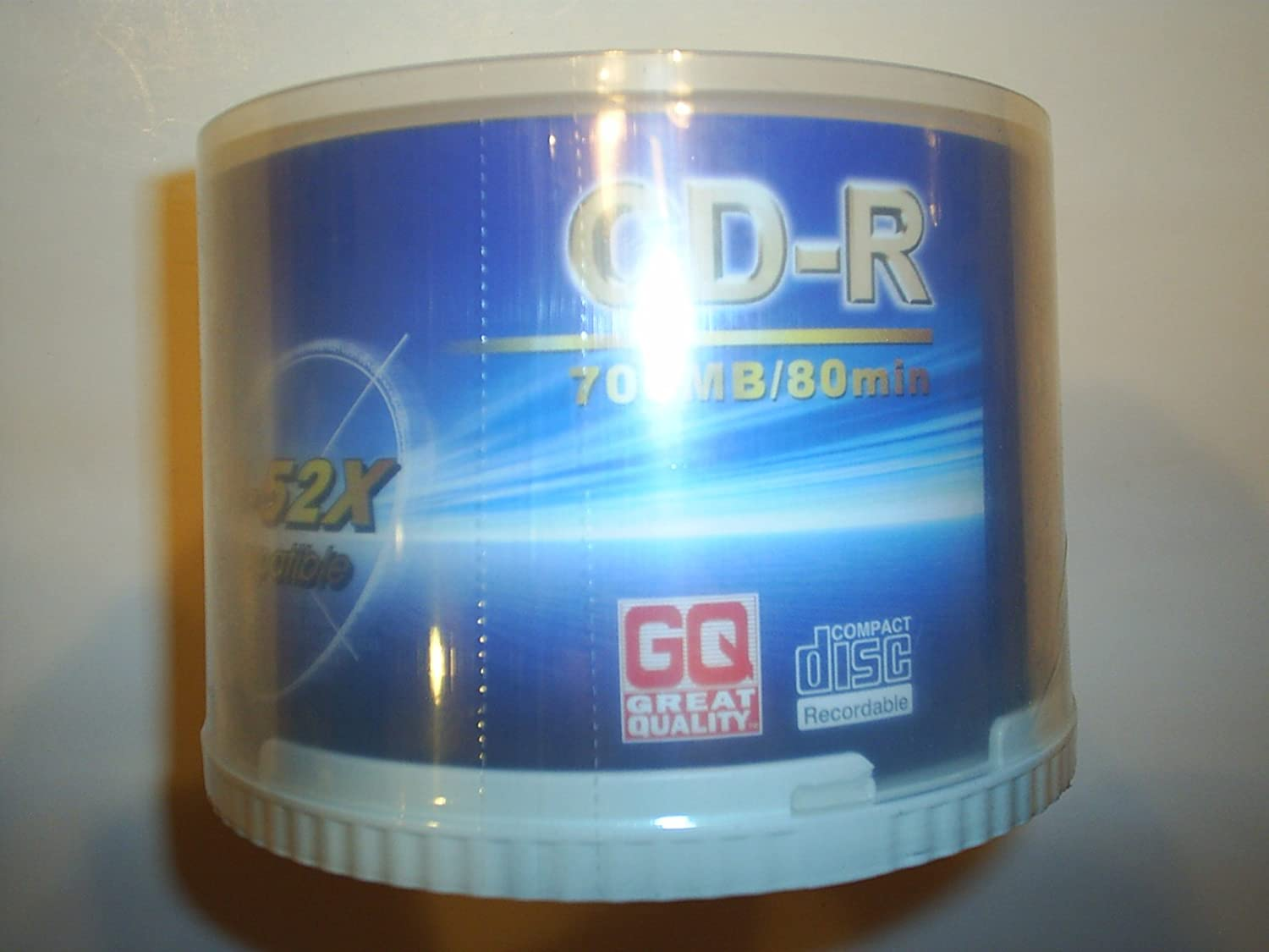 GQ Great Quality CD-R 700MB//80 Minute 50 pack Spindle