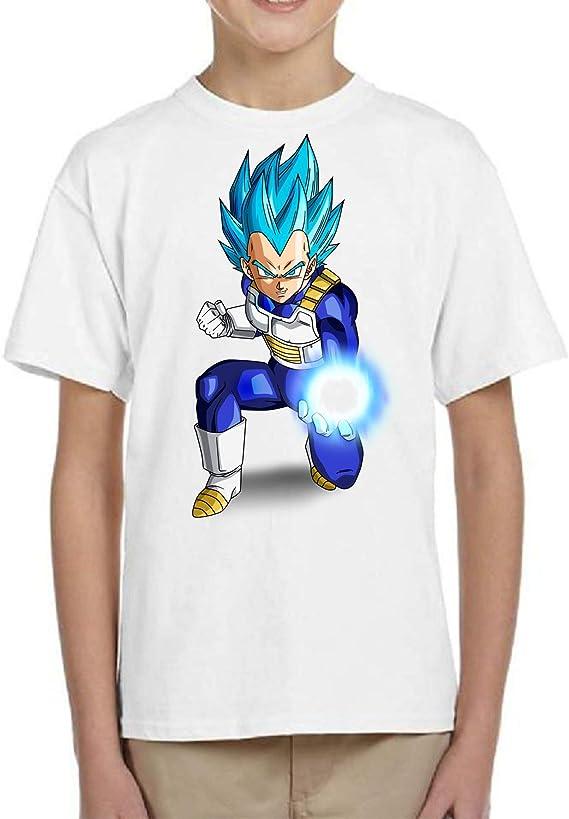 The Fan Tee Camiseta de NIÑOS Dragon Ball Goku Vegeta Bolas de Dragon Super Saiyan 143: Amazon.es: Ropa y accesorios
