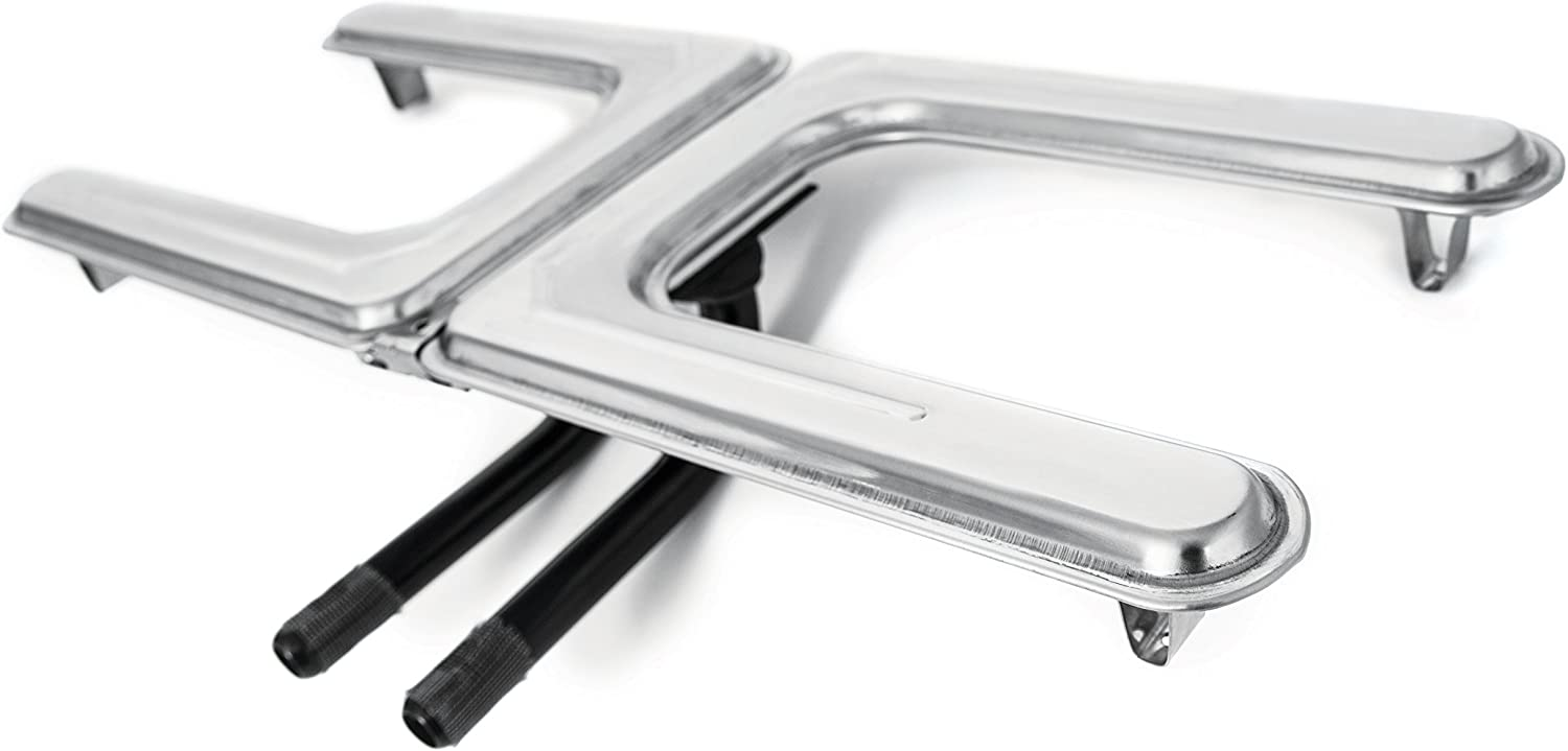 """Universal Fit 19/"""" Replacement Stainless Steel Grill H Burner for Gas or Electric"""
