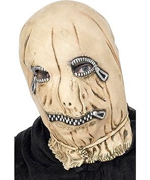 Smiffys Leatherface cremallera esclavo Zip máscara de Halloween