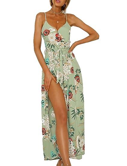 33f68d721359 Amazon.com  Murimia Womens Jumpsuits Summer V Neck Spaghetti Strap ...