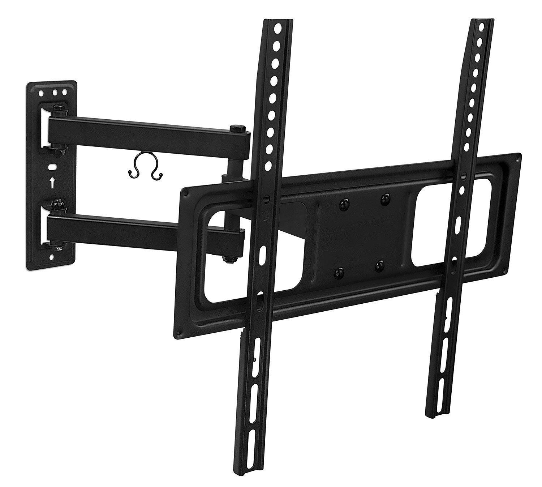 Mount-It! TV Wall Mount Bracket with Full Motion Articulating Arm 17-Inch Extension for 26 - 55 Inch LED, LCD, OLED Plasma TVs, 180 Deg Swivel 15 Deg Tilt MI-3991B