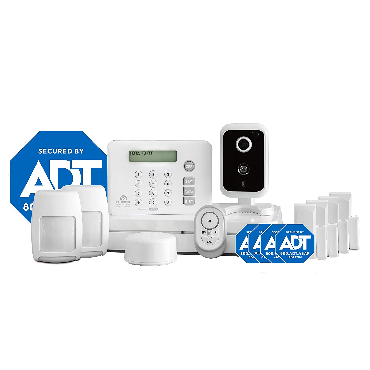 Adt Home Security Systems >> Lifeshield An Adt Company 13 Piece Easy Diy Smart Home Security System Optional 24 7 Monitoring Smart Camera No Contract Wi Fi Enabled