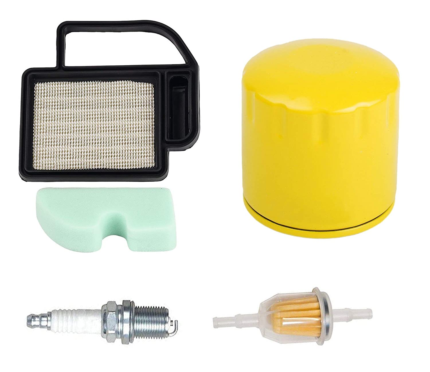 OxoxO Replace Air Pre Filter Fuel Filter Oil Filter with Spark Plug for Kohler SV470-610 15-21 Replace 20-083-06-S 20-083-02S 2008302 Cub Cadet KH-20 883 02-S1 Craftsman 24642 Ariens 21541600