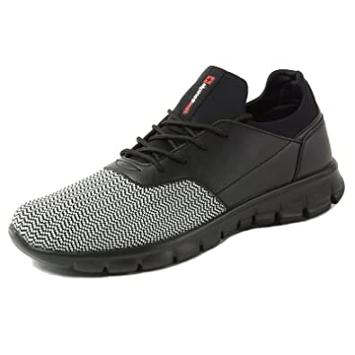 Alpine Swiss Leo Men Sneakers Flex Knit Tennis Shoes Casual Athletic Lightweight,Black,7