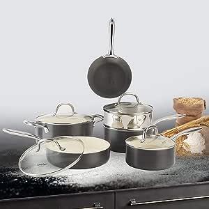 lovepan cebollas ollas y sartenes Set, color blanco revestimiento ...