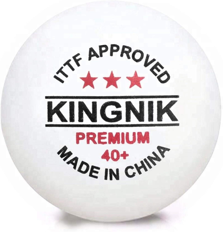 Pelotas Ping Pong - Premium 3 Estrellas 6 Unidades Blancas de plástico ABS 40+ Profesional y Entrenamiento certificadas por la Federación Internacional de Tenis de Mesa (ITTF)