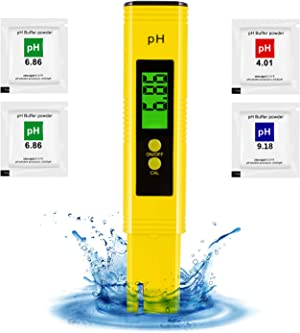 pH Tester Digital - High Accuracy pH Water Tester for Drinking Water Aquarium and Hydroponics