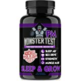 Angry Supplements Monster Test PM Testosterone Booster Plus Sleep Aid-Jack T-Levels All Natural Formula, Made in USA, Powerful Ingredients Boost Energy & Performance in the Gym and in the Bedroom.