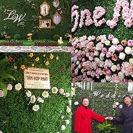 bouncevi Planta Artificial Jardín Decoración De Plástico Jardín Fake Fence Mat Panel Celosía Decoración De La Pared para La Boda En Casa Balcón: Amazon.es: Hogar