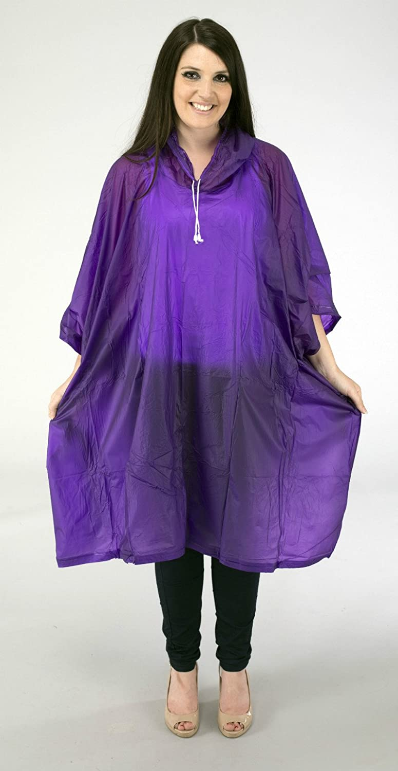 Staydry Deluxe PVC Waterproof Reusable Rain Poncho High Quality for Festivals