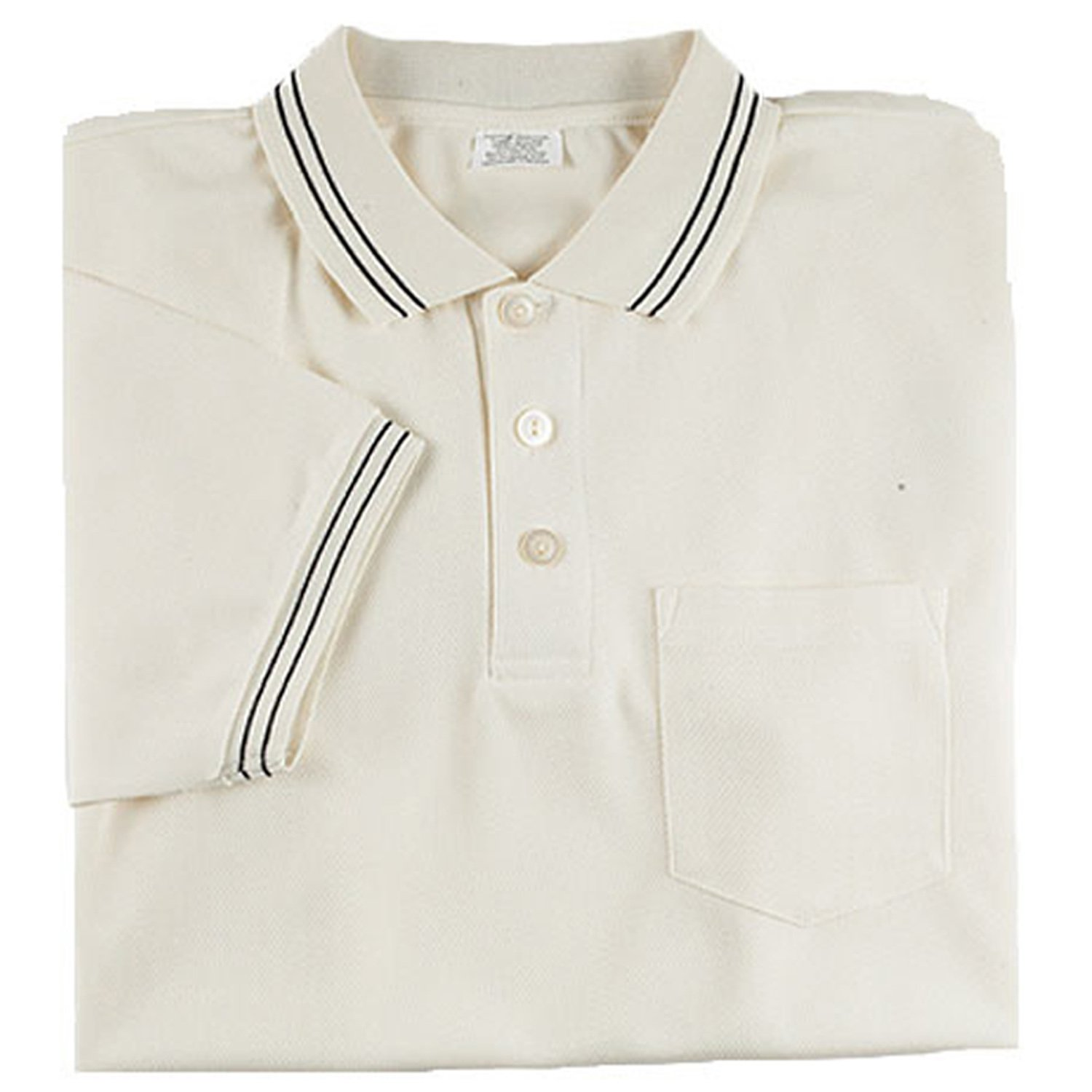 Adams USA Smitty Major League Style Short Sleeve Umpire Shirt with Front Chest Pocket (Cream, 4X-Large)